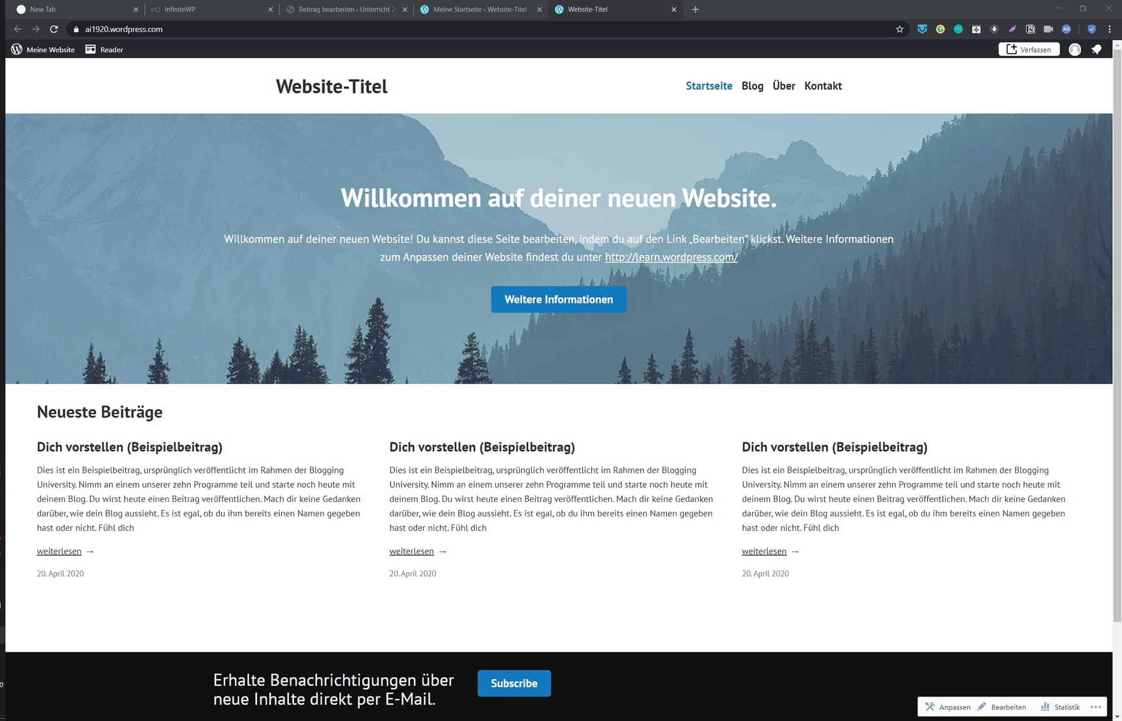 Wordpress Frontend