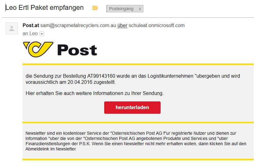 Post Ransomware